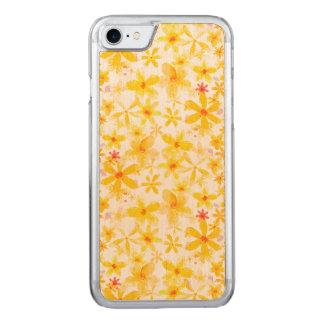 Flores amarillas funda para iPhone 7 de carved