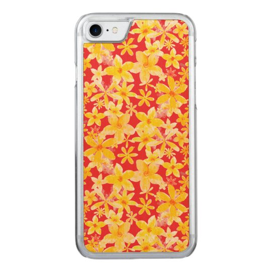 Flores amarillas funda para iPhone 7 de carved