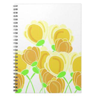 Flores amarillas libro de apuntes
