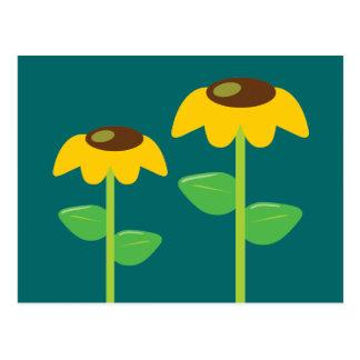 Flores amarillas postales
