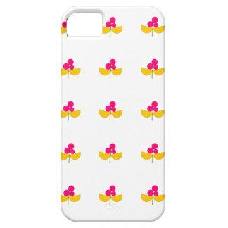 Flores amarillas y rosadas del vintage funda para iPhone SE/5/5s