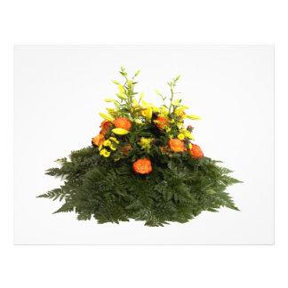 flores anaranjadas tarjetones