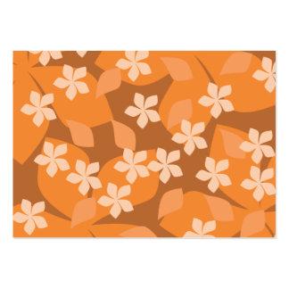 Flores anaranjadas. Modelo floral retro Tarjetas De Visita Grandes