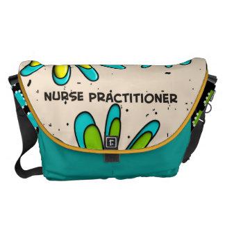 Flores artsy del bolso del médico de la enfermera bolsas de mensajería