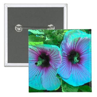 Flores azules chapa cuadrada
