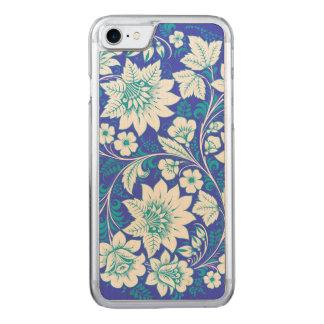 Flores azules claras funda para iPhone 8/7 de carved