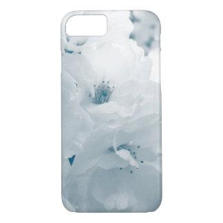 Flores azules claras y blancas de Sakura de la Funda iPhone 7