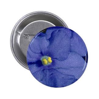 Flores azules de la violeta africana chapa redonda de 5 cm