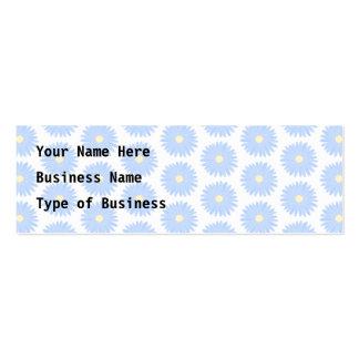 Flores azules en colores pastel tarjetas de visita mini