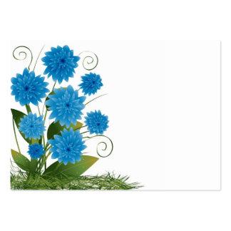 Flores azules en un fondo blanco tarjetas de visita grandes