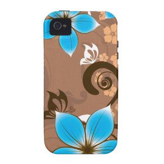 Flores azules iPhone 4/4S fundas