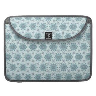 Flores azules - manga de Macbook del carrito Fundas Para Macbooks