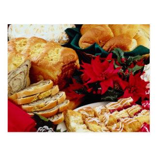 Flores blancas de la repostería y pastelería tarjetas postales
