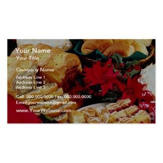 Flores blancas de la repostería y pastelería tarjetas de visita