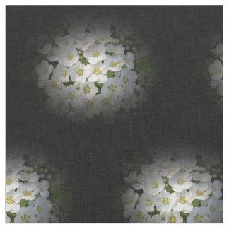Flores blancas del ramo tela
