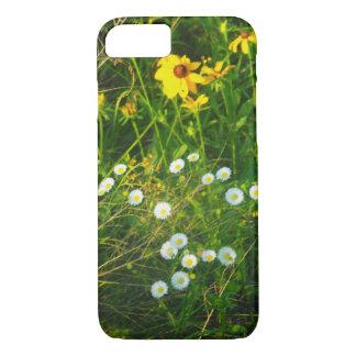 flores blancas y amarillas del caso del iPhone 7 Funda iPhone 7