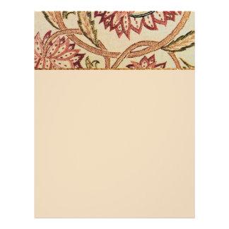 Flores bohemias rosadas folleto 21,6 x 28 cm