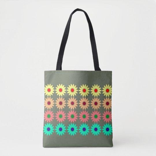 flores. bolsa de tela