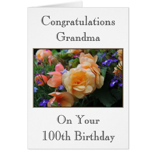 Flores bonitas, 100a tarjeta de cumpleaños de la