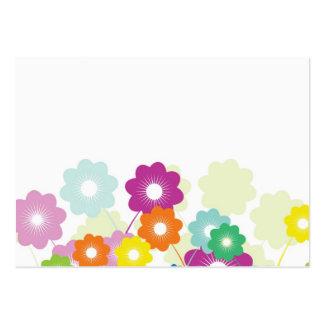 Flores brillantes tarjetas de visita grandes