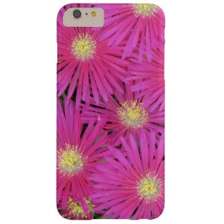 Flores centradas amarillo rosado brillante de la funda barely there iPhone 6 plus