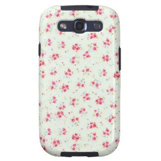 Flores color de rosa elegantes lamentables florale galaxy s3 funda