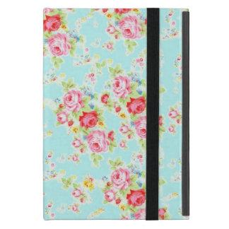 Flores color de rosa lamentables azules de los iPad mini coberturas
