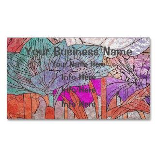 Flores coloreadas multi en pasteles tarjetas de visita magnéticas (paquete de 25)