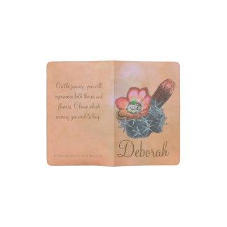 Flores coloridas del cactus de las tazas de cuaderno de bolsillo moleskine