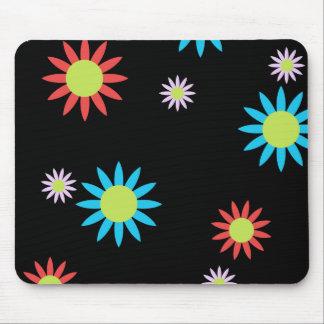 Flores coloridas del vector alfombrilla de ratones