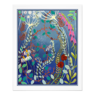 Flores coloridas tarjetones