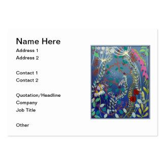Flores coloridas tarjetas de visita grandes