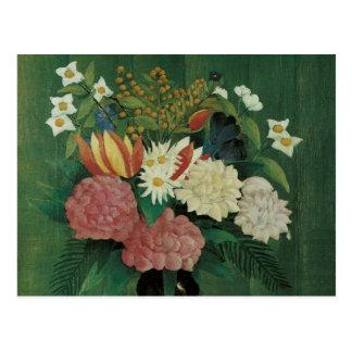 Flores con la hiedra de Henri Rousseau, vintage Postal