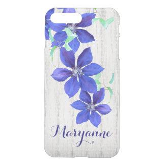 Flores conocidas de encargo del Clematis púrpura Funda Para iPhone 7 Plus