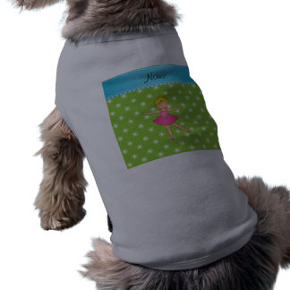 Flores conocidas personalizadas del verde de la camisa de mascota