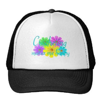 Flores Crocheting de la felicidad Gorros