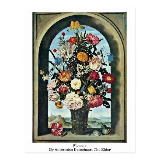 Flores de Ambrosius Bosschaert la anciano Postales