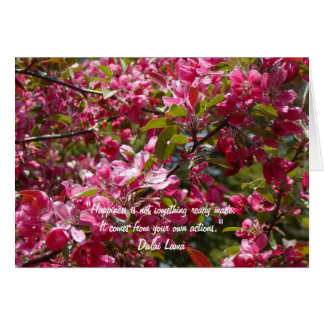 Flores de Apple de cangrejo con la cita de Dalai Tarjeta