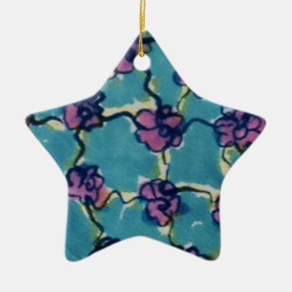 Flores de cadena azules adorno