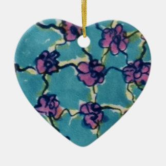 Flores de cadena azules adorno de reyes