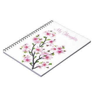 Flores de cerezo 4 cuaderno