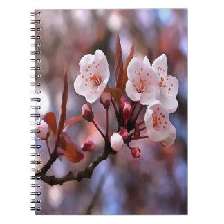 Flores de cerezo cuaderno