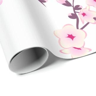 Flores de cerezo florales que casan el papel de