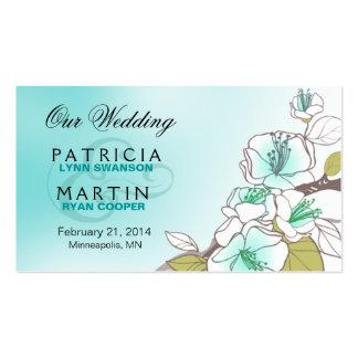 Flores de cerezo florecientes que casan la tarjetas de visita