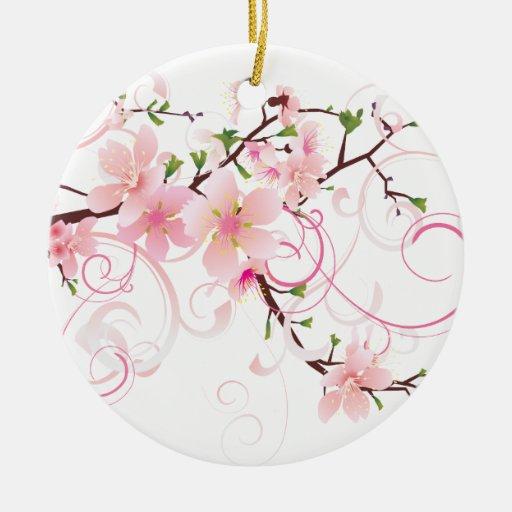 Flores de cerezo hermosas ornamentos de reyes