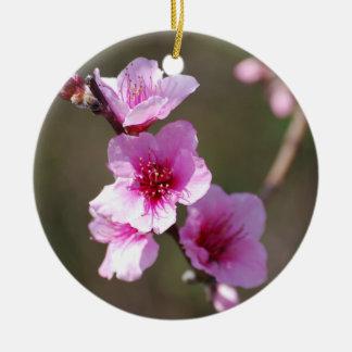 Flores de cerezo rosadas ornamento de navidad