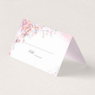 Flores de cerezo rosadas tarjeta de asiento