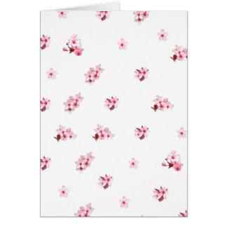 Flores de cerezo tarjeta