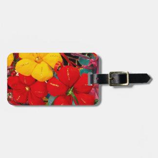 Flores de crespón mexicanas etiquetas para maletas
