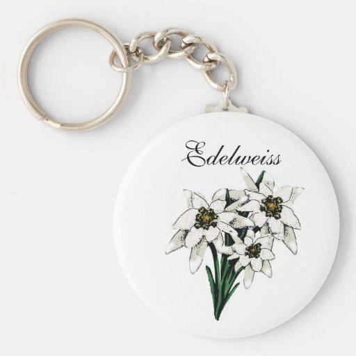 Flores de Edelweiss Llavero